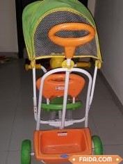 Disney Musical Tricycle With Canopy And Push Handle for 1600