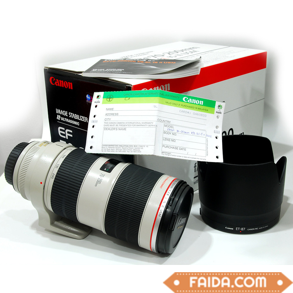 Canon 70-200mm / Nikon 70-200mm / Nikon 24-70mm /Canon EF 24-105mm Lenses