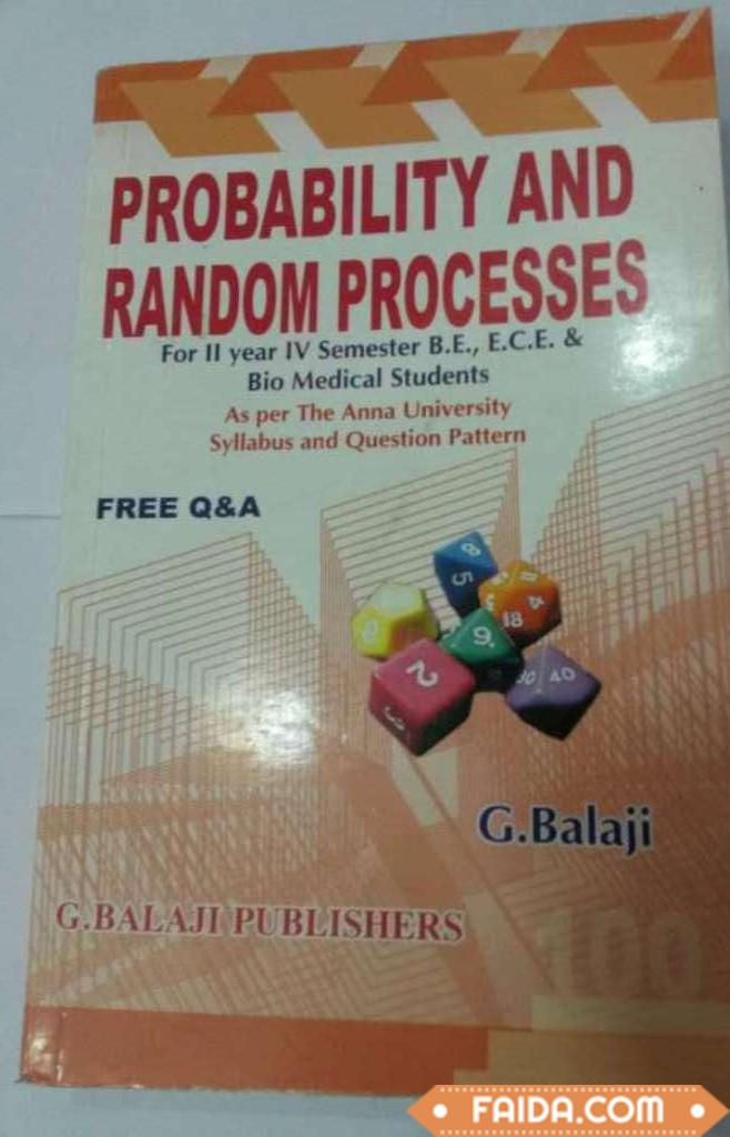 Probablity and random access book For in orange color