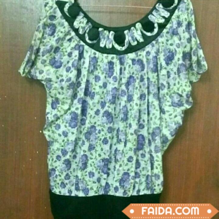 Purple flower print Top