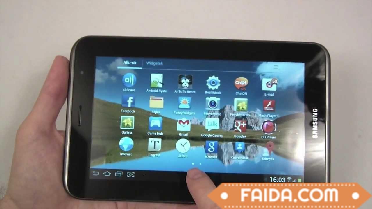 Samsung Galaxy Tab 2 7.0 P3100 with calling facility , 16 gb , 1gb ram, original  box